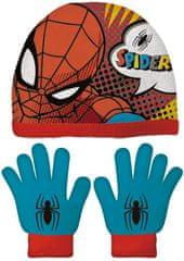 Disney komplet chłopięcy czapka i rękawiczki Spiderman