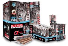 Alpha Spirit Fish Ristra Stick poslastice za pse, riba, 16 x 4 kom