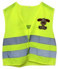 First BIKE varnostni brezrokavnik s kužkom, otroški, velik S
