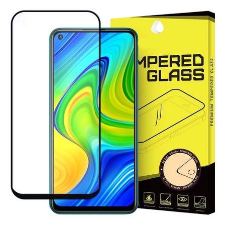 MG Full Glue Super Tough zaščitno steklo za Xiaomi Redmi 10X 4G / Redmi Note 9, črna