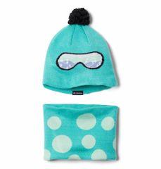 Columbia dětská čepice a nákrčník Youth Snow More Hat modrá uni