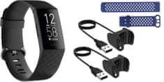 Fitbit Charge 4 (NFC), Black športna zapestnica + drug pašček in polnilec