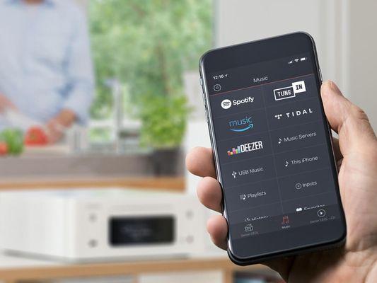 minisystém denon rcd-n11 dab výkon 160 w skvělé audio vlastnosti Bluetooth apple airplay 2 wifi lan dab tuner fm tuner cd přehrávač aux vstup optické vstupy autosence funkce výstupy pro subwoofer dálkový ovladač tidal spotify deezer ovládání hlasem alexa siri google assistant