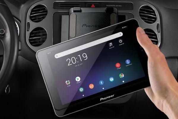 nowoczesne stylowe radio samochodowe pioneer sph-8tab-bt bluetooth wifi tuner fm wzmacniacz mosfet zestaw głośnomówiący 16 gb pamięć wewnętrzna 2 gb ram odbiornik tablet w uchwycie os android