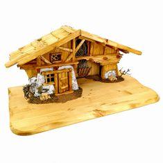 AMADEA Dřevěný betlém BEZ FIGUREK 65 cm