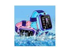 Dětské chytré hodinky s GPS lokátorem - modré