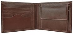 VegaLM Elegantná kožená peňaženka z pravej kože v tmavo hnedej farbe