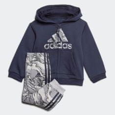Adidas zestaw dresowy chłopięcy I LOGO FZ HD FL