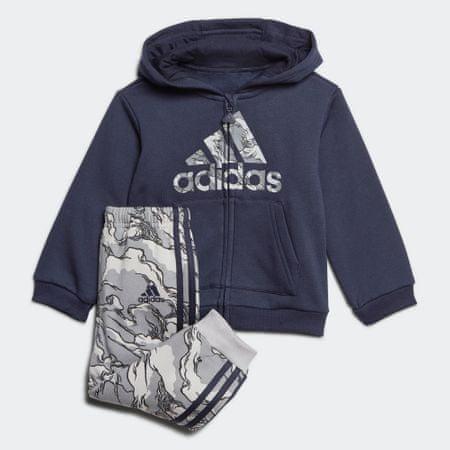 Adidas zestaw dresowy chłopięcy I LOGO FZ HD FL 74, niebieski