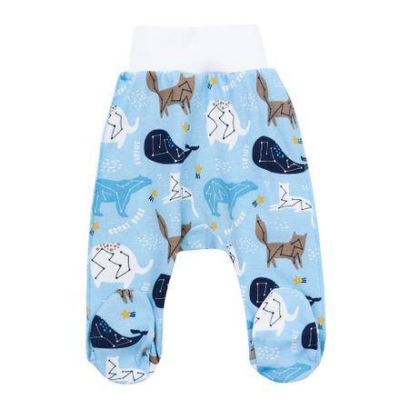 Garnamama fantovske hlače s stopalkami, modre, 56