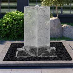 shumee Fontanna ogrodowa z pompą, stal nierdzewna, 76 cm, trójkątna