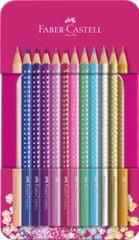 Faber-Castell Sparkle bojice, u metalnoj kutiji, 12/1