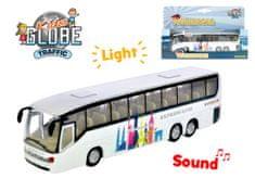 Mikro Trading Autobus kov 19cm zpětný chod na baterie se světlem a zvukem - mix barev