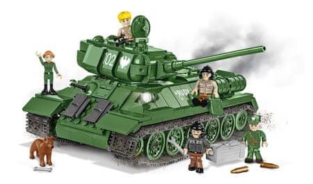 Cobi model 2524 II WW Tank T-34/85 Rudy 102, Czterej pancerni i pies