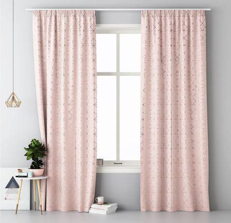 My Best Home zasłona ozdobna z plisowaną taśmą BRILIANT 140x250 cm różowa