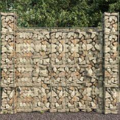 shumee Gabiónová stena s krytom, pozinkovaná oceľ 600x50x200 cm