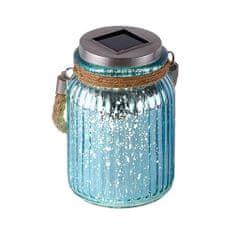 PAUL NEUHAUS Leuchten DIREKT LED solárne svietidlo z modrého skla pre vonkajšie akcentačné osvetlenie 5000K