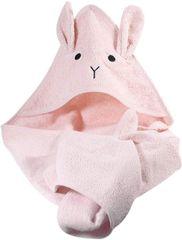 TrendUpcz froté osuška s kapucí Rabbit 75 x 75 cm (růžová)