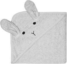TrendUpcz Dětská osuška s kapucí Rabbit 75x75 cm šedá