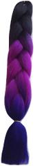 Vipbejba Syntetický copánek k prodloužení vlasů, barva C10 černá, tmavá fialová, tmavá modrá