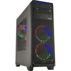 CORPA PC COPY GAMER RYZEN 5 2600 3.9GHZ 6 jader 12 vláken 16GB 256GB + 1TB GTX 1660 Super W10 RGB