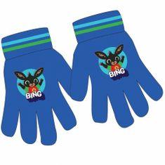 """Eplusm Chlapecké prstové rukavice """"Králiček Bing"""" - modrá"""