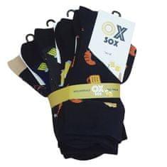 OXSOX Pánské bavlněné barevné veselé CRAZY SOCKS ponožky PIVO ox7100120 5-pack