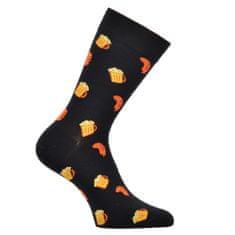 OXSOX OXSOX Pánské bavlněné barevné veselé CRAZY SOCKS ponožky PIVO ox7100120