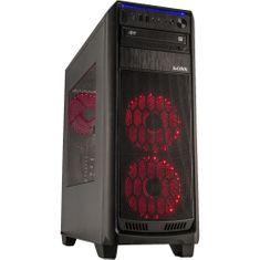 CORPA PC GAMER RYZEN 5 2600 3.9GHZ 6 jader 12 vláken 16GB 256GB + 1TB GTX 1660 Super W10 Red