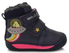 D-D-step dievčenská zimná barefoot členková obuv 070-90