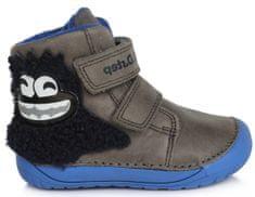 D-D-step chlapčenská zimná barefoot členková obuv 070-212A