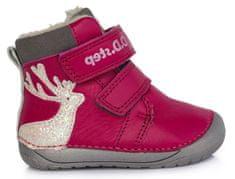 D-D-step dievčenská zimná barefoot členková obuv 070-755