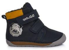 D-D-step chlapčenská zimná barefoot členková obuv 070-518