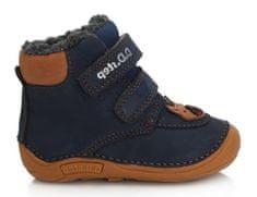 D-D-step chlapčenská zimná barefoot členková obuv 018-814