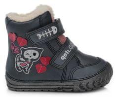 D-D-step dievčenská zimná členková obuv 029-727