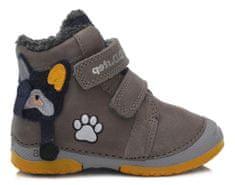 D-D-step chlapčenská zimná členková obuv 038-867A