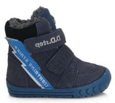 D-D-step chlapčenská zimná členková obuv 029-350A