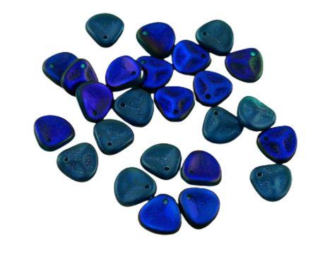 Kraftika 50szt matowy capri niebieski azuro pół czeskie szkło róża
