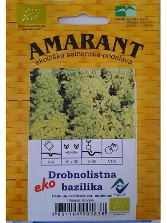 Amarant Drobnolistna bazilika, ekološko seme