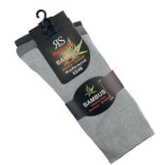 RS Dámské i pánské zdravotní bambusové antibakteriální ponožky bez gumiček 43038 3-pack