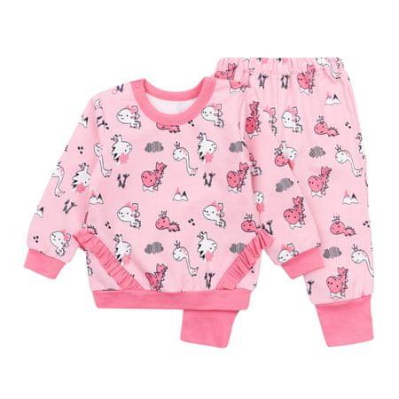 Garnamama piżama dziewczęca 86, różowy