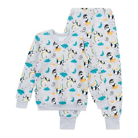 Garnamama Dziecięca piżama szara 104