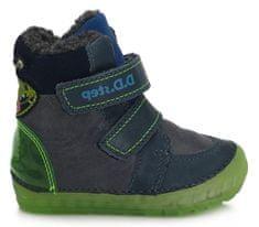 D-D-step chlapčenská zimná svietiaca členková obuv 029-782B