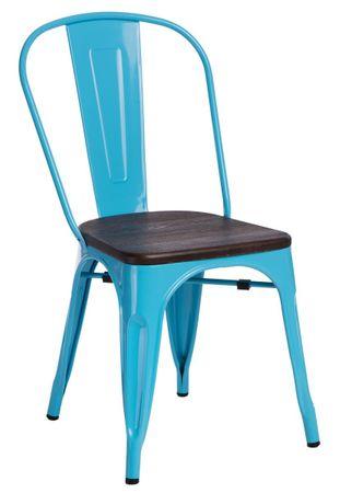 shumee Paris Wood szék kék diófenyő