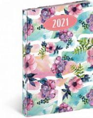Diář 2021: Cambio Fun - Květiny - týdenní, 15 x 21 cm