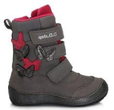 D-D-step dievčenská zimná členková obuv 023-108