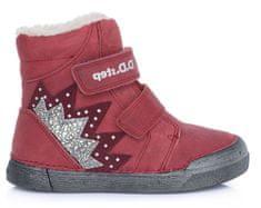 D-D-step dievčenská zimná členková obuv 068-286
