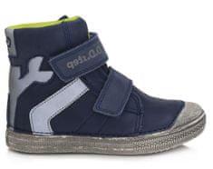 D-D-step chlapčenská zimná svietiaca členková obuv 049-359B