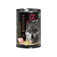 Alpha Spirit Rabbit & Banana hrana za pse, kunić, banana, 400 g