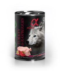 Alpha Spirit Turkey & Raspberry hrana za pse, puretina, malina, 400 g